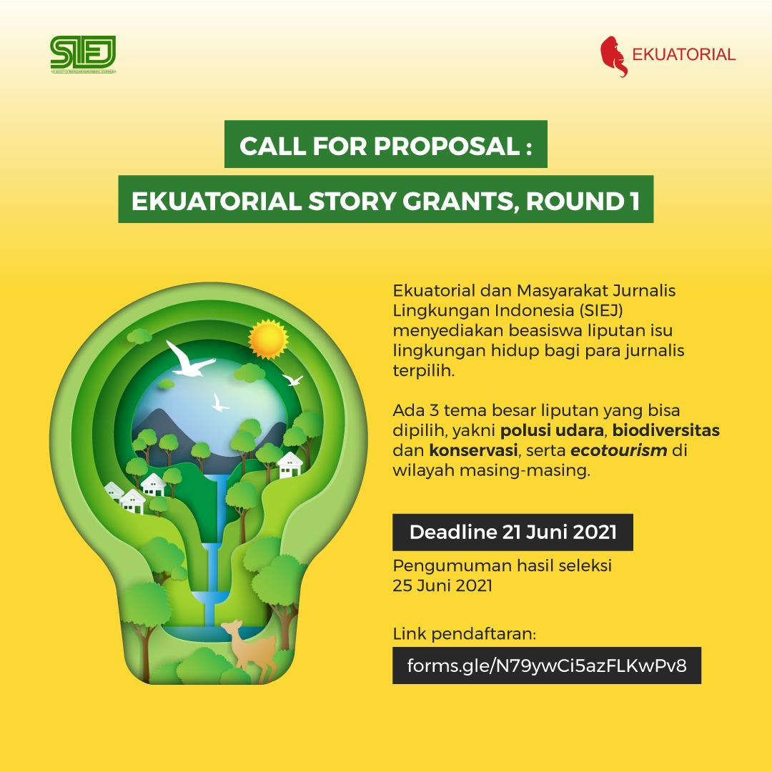 Call For Proposal : Ekuatorial Story Grants, Round #1
