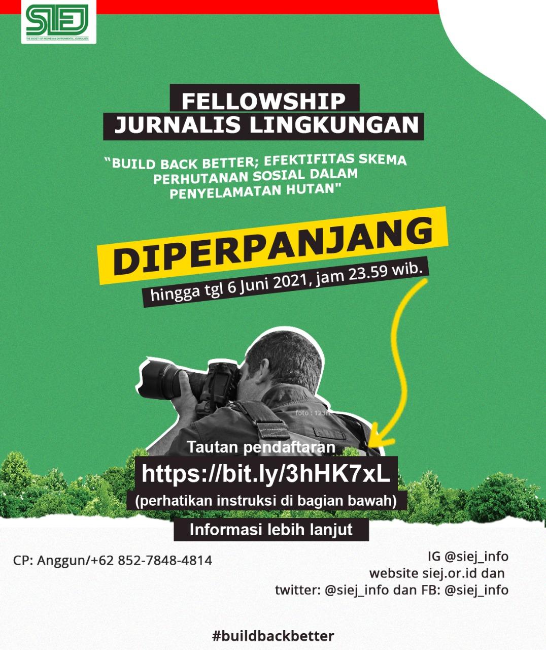 "Fellowship""Build Back Better""di Wilayah Sumatera (Diperpanjang)"