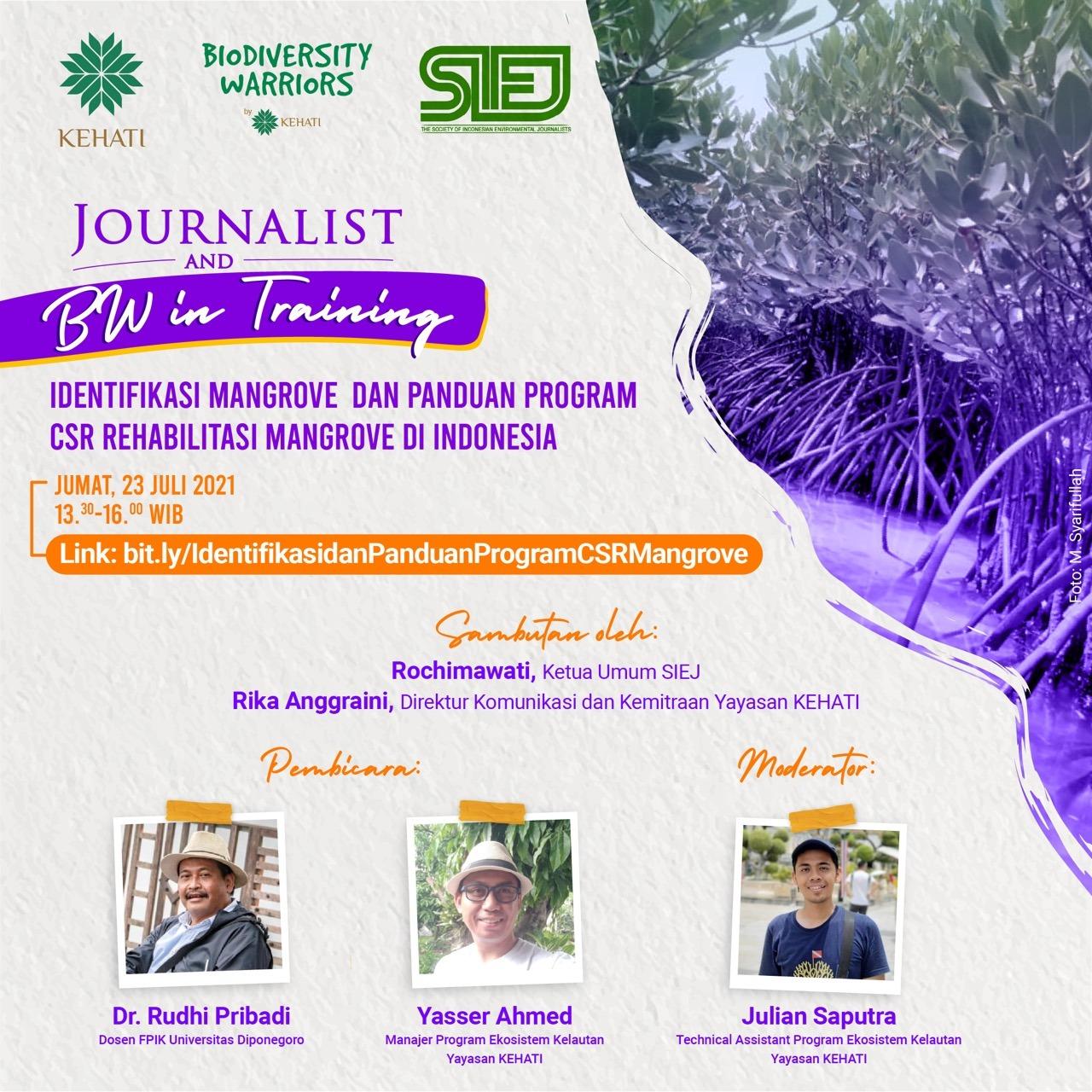 Journalist & BW in Training : Identifikasi Mangrove dan Panduan Merehabilitasi