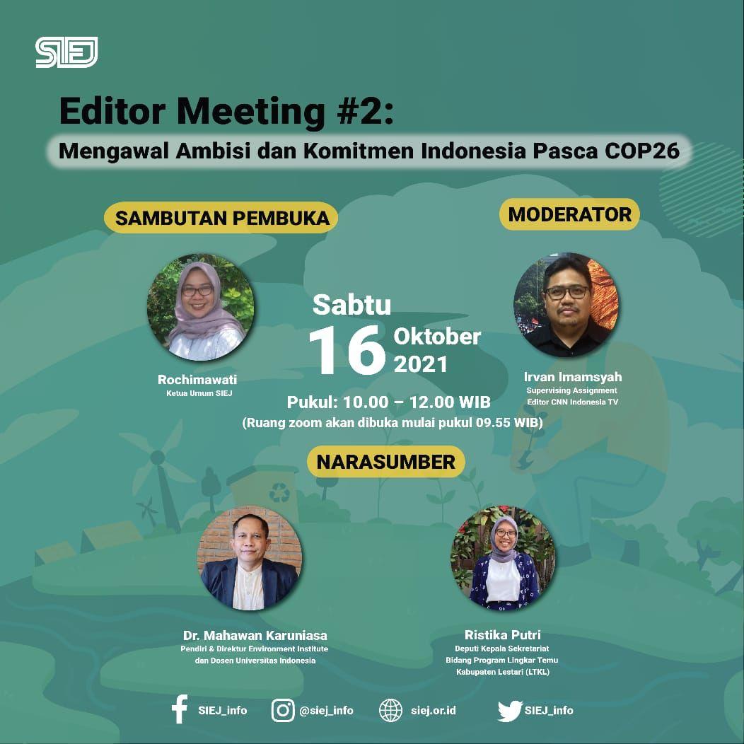 Menuju COP26 : Kawal Ambisi dan Komitmen Mitigasi Perubahan Iklim Indonesia di COP26